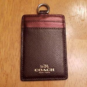 Coach badge holder